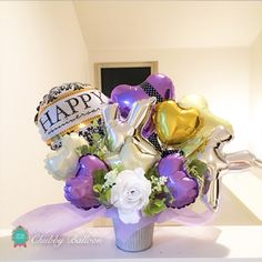 Happy anniversary イニシャル入りtable top type~PUPLE & GOLD~