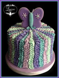 Butterfly smash cake
