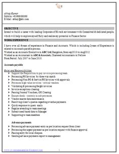 Resume Format Resume And Word Doc On Pinterest