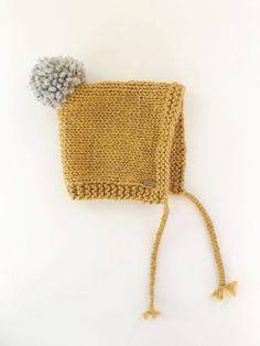 Knit pixie hat // hand knit hat //knit baby hat by LolaandStella