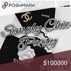 I'M CO-HOSTING THE SIMPLY CHIC PARTY! Join me and my other lovely co-hosts at the SIMPLY CHIC POSH PARTY on 11/8/17 @ 7pm PST🖤🎉. I can't wait to share my fave chic picks!  As a suggested user, I am looking for HOST PICKS from Poshers follow ALL posh rules! (No closets with unsupported items or offline transactions please!)  Also looking for NEW CLOSETS to share from! So if you have never had a HP before, be sure to leave me a comment here and let me know and I will make a point to check…