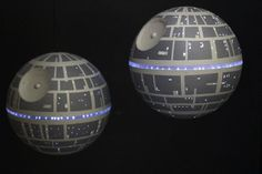 DIY Death Star light up ornament because it isn't Christmas without the Death Star on your tree....