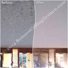Dining room after texture removed.  #CeilingFinishes #CeilingDesign #CeilingTextureRemoval #SmoothCeilings #PopcornCeilingRemoval #PopcornCeilings #CeilingRenovations #Vancouver