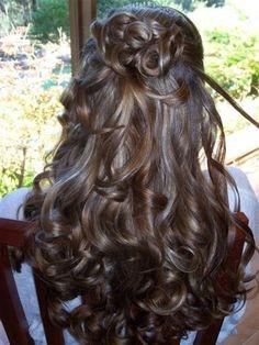 je ne sais pas si ça peut être beau avec la quantité de cheveux que j'ai!