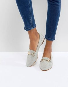 Office Fastlane Gray Loafers - Loafers Outfit - Ideas of Loafers Outfit - image. Grey Loafers, Loafers Outfit, Loafer Shoes, Shoes Sneakers, Flat Shoes Outfit, Women's Shoes, Outfit Work, Shoes Men, Flats