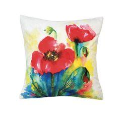 Tulip+Watercolor+Throw+Pillow