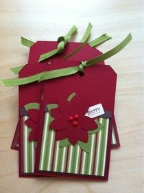 Stampin' Up! Pointsettia Christmas Tag   by scrapsy.blogspot.com/