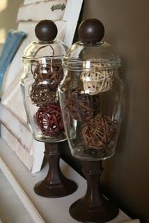 DIY Apothecary Jars - A Very inexpensive version!!