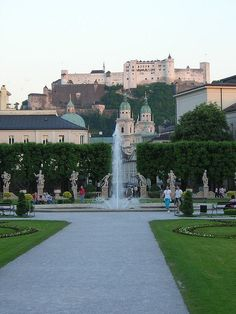 Salzburg, Austria  ..The fountain from the Sound of Music