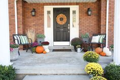 Fall Porch Decor - T