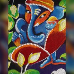 Rangoli Designs Diwali, Rangoli Designs With Dots, Ganesha, Art Drawings, Collections, My Favorite Things, Painting, Inspiration, Biblical Inspiration