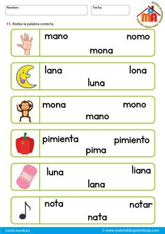 """The letter N: Reading-writing """"Learning Material"""" - Learning Material . - The letter N: Reading-writing """"Learning Material"""" – Learning Material - Spanish Classroom Activities, Montessori Activities, Preschool Lessons, Learning Activities, Spanish Lessons For Kids, English Worksheets For Kids, Spanish Language Learning, Teaching Spanish, Block Center Preschool"""