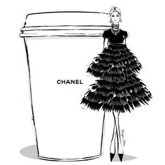 "4,300 Likes, 43 Comments - Megan Hess (@meganhess_official) on Instagram: ""I'd like a double shot and extra frill on my CHANEL Coffee today! #MeganHessCoffeeGirls"""