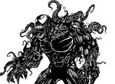Ultimate Venom Line Art! Hawkeye Comic, Hawkeye Avengers, Comic Book Villains, Evil Villains, The Original Hulk, Fantastic Four Logo, Eddie Brock Venom, Spiderman Pictures