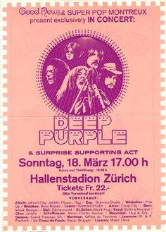 Deep Purple - Hallenstadion, Zurich, Switzerland • 18 March 1973