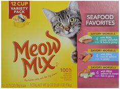 Meow Mix Seafood - 12x2.75oz *** Trust me, this is great! Click the image. : Cat food