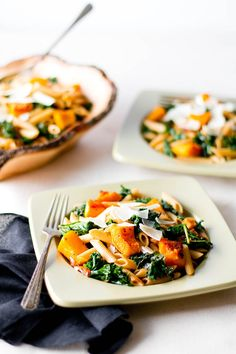 Penne with Butternut Squash & Kale [photos by Rikki Snyder]
