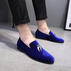 53e90760f783d Loafer Slippers, Velvet Loafers Mens, Dress Shoes, Dress Outfits, Italian  Shoes,