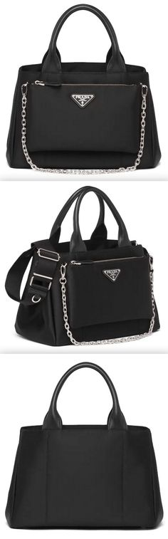 New Handbags, Tote Handbags, Triangle Logo, Nylon Tote Bags, Letter Logo, Leather Handle, Fashion Boutique, Gym Bag, Shoulder Strap