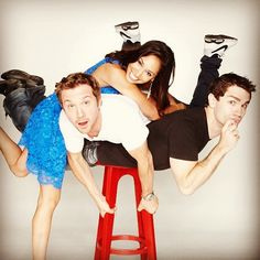 What a crazy bunch - Being Human SyFy's Meaghan Rath, Sam Huntington, Sam Witwer! Being Human Syfy, Being Human Uk, Movies Showing, Movies And Tv Shows, Sam Huntington, Print Instagram Photos, Meaghan Rath, Human Base, Vampire Academy