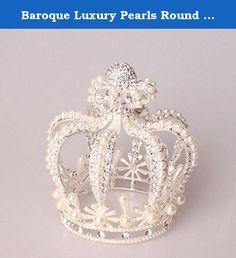 Baroque Luxury Pearls Round Crown (silver). Baroque Luxury Pearls Round Crown.