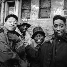 Khalil Kain, Omar Epps, Jermaine Hopkins, & Tupac Shukar in Juice Love N Hip Hop, Hip Hop And R&b, 90s Hip Hop, Hip Hop Rap, Tupac Shakur, 2pac, Jamel Shabazz, Arte Hip Hop, Hip Hop Instrumental
