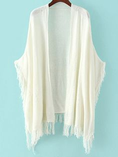 Shop White Tassel Loose Knit Cardigan at victoriaswing, personal womens clothing online store! high quality, cheap and big discount, latest fashional style!