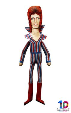 Ziggy Stardust / David Bowie / Art Doll Premium by MEDIODESCOCIDO