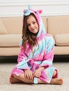 Soft-Unicorn-Hooded-Bathrobe-Sleepwear-Unicorn-Gifts-for-Girls