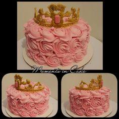 Pink and Gold 1st Birthday Smash Cake