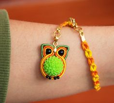 Miniature Owl Charm Bracelet Woodland animal totem by MyFantasies Soutache Bracelet, Soutache Jewelry, Owl Charms, Miniature Crafts, Beading Projects, Woodland Animals, Beaded Embroidery, Hand Weaving, Crochet Earrings