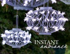 Solar Star Lanterns are beautiful and easy outdoor accent lighting. Use them anytime of year and for any occasion. You'll love the instant charm and ease of use of our patented Solar Lanterns. Great party lighting and decorative outdoor lighting.