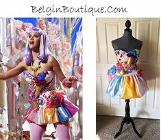 custom order for Candy Bracelet, Candy Necklaces, Bracelets, Katy Perry Dress, October Crafts, Costumes Couture, Paint Matching, Colorful Candy, Halloween Dress