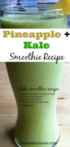7 Best Health Benefits of Kale and Kale Smoothie. Pineapple and kale smoothie Recipe Calendula Benefits, Matcha Benefits, Lemon Benefits, Coconut Health Benefits, Kale Benefits, Smoothie Benefits, Benefits Of Pineapple, Pineapple Kale Smoothie, Kale Smoothie Recipes