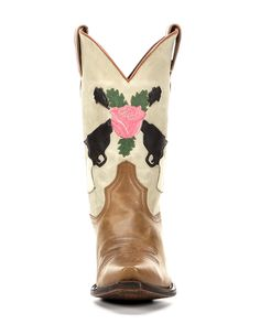 Eight Second Angel Women's Rose Revolver Boot - Cream and Russet