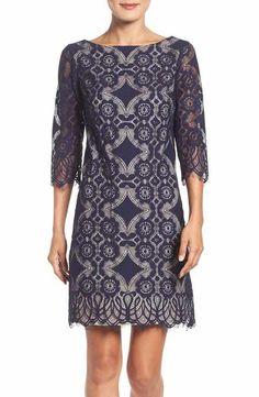 Eliza J Lace A-Line Dress (Regular & Petite)