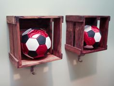In lieu of actual lockers, Kellie used wooden bins with a hook underneath to create a locker feel.