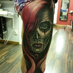 Day of the dead leg best tattoo ideas & designs tattoos, sleeve