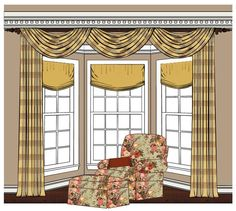 Living Room Window Valances Furnitures Philippines 268 Best Bay Treatments Images In 2019 Blinds Curtains Ideas Highlight Your Kitchen With Decorations When Decorating