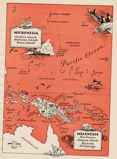 Charming PACIFIC ISLANDS Map Oceania Polynesia Map by plaindealing