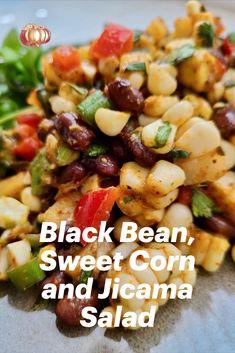 Corn Salad Recipes, Salad Dressing Recipes, Vegetable Recipes, Vegetarian Recipes Dinner, Vegan Vegetarian, Mexican Food Recipes, Bean Recipes, Side Dish Recipes, Cooking Recipes