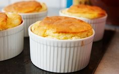Decadent soufflé with cheese