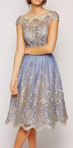 metallic lace stunning midi dress