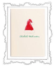 Santa Claus is coming to town Was gibt es Schöneres als in der glitzernden Weihnachtszeit liebe Menschen mit herzlichen Zeilen zu überraschen und etwas Weihnachtszauber zu verschicken. Das Weihnachtskarten schreiben ist eine zauberhafte Tradition, die zu Weihnachten – dem Fest der Liebe und Familie – einfach dazugehört.  Die elegante Klappkarte, in einem zarten Cremeweiß, hat das Format 118 x 168 mm ( 200g ) und der Umschlag 125 x 176 mm (120g ).