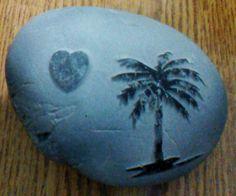 Engraved pebble stones
