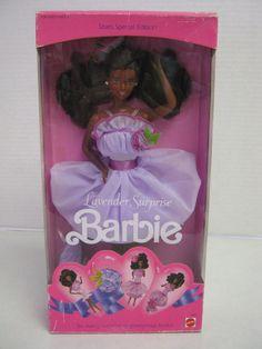 Sears Lavender Surprise AA 1990 Barbie Doll African American NRFB