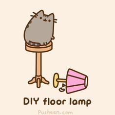 Pusheen the cat, too funny/cute!