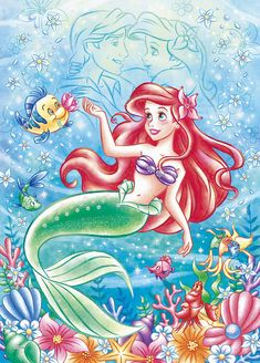 Image discovered by Find images and videos on We Heart It - the app to get lost in what you love. Disney Little Mermaids, Ariel Disney, Disney Fairies, Ariel The Little Mermaid, Cute Disney, Disney Art, Walt Disney, Disney Princess Drawings, Disney Princess Art