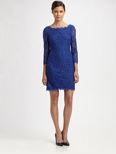 Love it and comes in quite a few colors. My faves are grey and grapefruit.  Diane von Furstenberg Zarita Lace Dress
