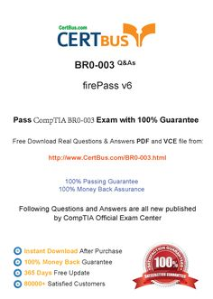 Candidate need to purchase the latest CompTIA BR0-003 Dumps with latest CompTIA BR0-003 Exam Questions. Here is a suggestion for you: Here you can find the latest CompTIA BR0-003 New Questions in their CompTIA BR0-003 PDF, CompTIA BR0-003 VCE and CompTIA BR0-003 braindumps. Their CompTIA BR0-003 exam dumps are with the latest CompTIA BR0-003 exam question. With CompTIA BR0-003 pdf dumps, you will be successful. Highly recommend this CompTIA BR0-003 Practice Test.